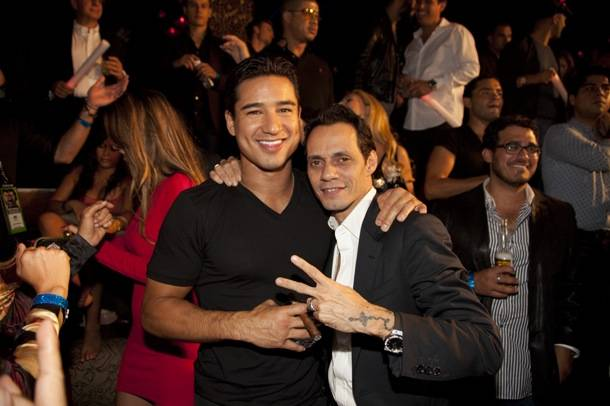 Marc Anthony and Mario Lopez celebrate their birthdays at Tao Las Vegas