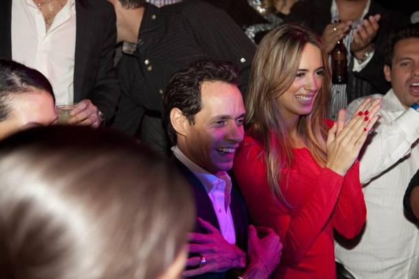 Marc Anthony and girlfriend Shannon de Lima at his birthday at Tao Las Vegas