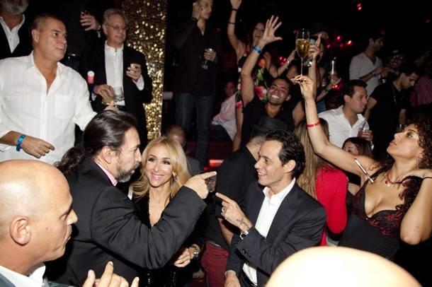 Marc Anthony with Grammy award winning singer songwriter Marco Antonio Solis at Bday celebration Tao Las Vegas
