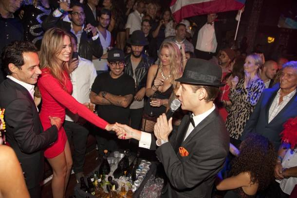 Marc Anthony with girlfriend Shannon de Lima enjoy celebration at his birthday at Tao Las Vegas