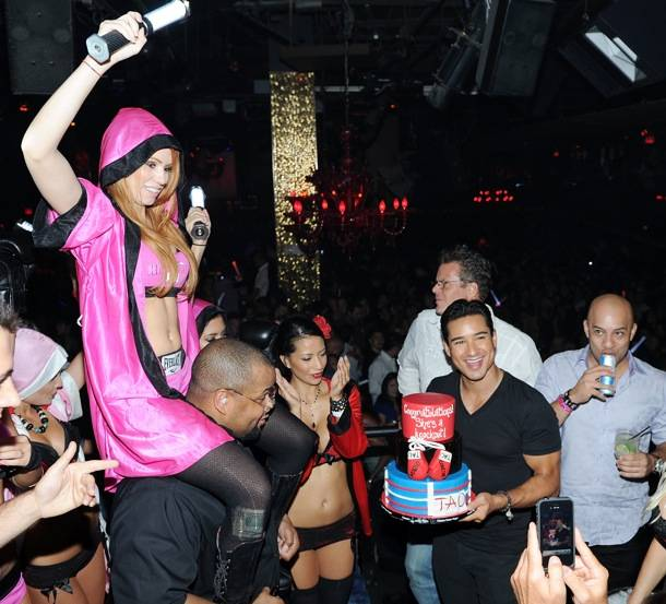 Mario Lopez Celebrates His Bachelor Party at TAO Nightclub