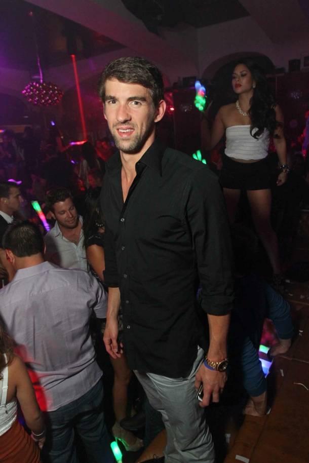 Michael Phelps at Hyde Bellagio, Las Vegas, 9-4-12