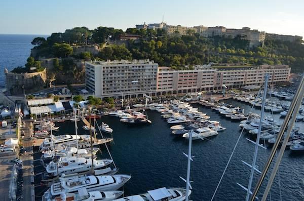 Monaco Yacht Club and Principal Palace above