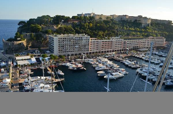 Monaco Yacht Club and Principality Palace above