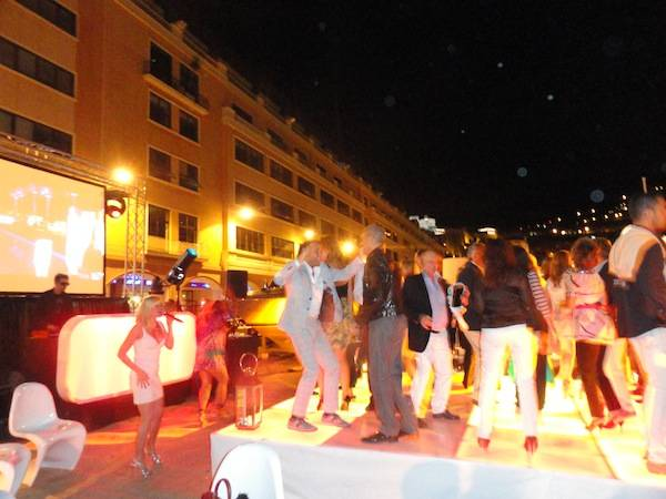 Riva party at Riva dockside