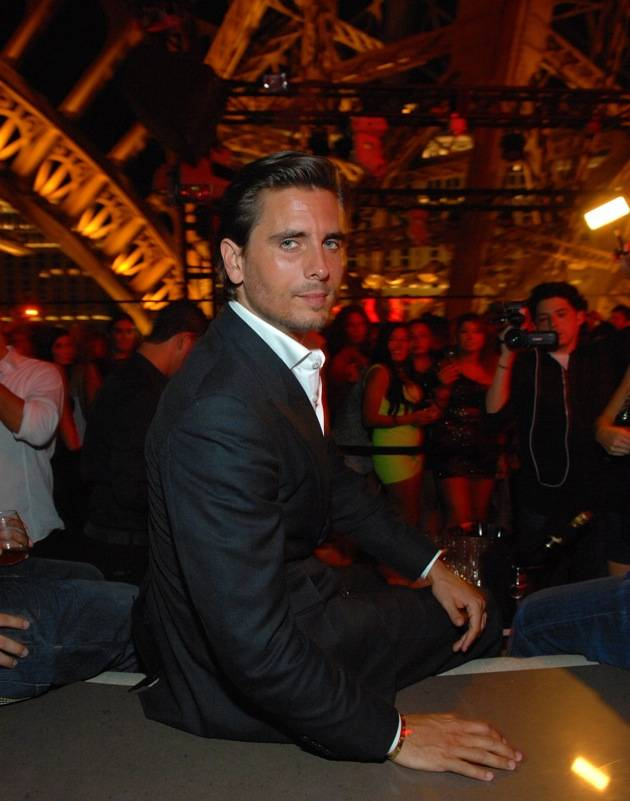 Scott Disick at his VIP table under the Eiffel Tower