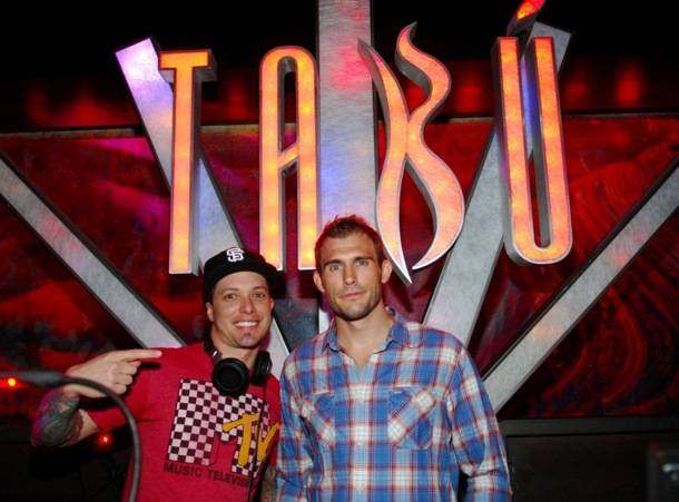 Tabú - Ryan Couture In DJ Booth with DJ Eric Forbes - 8.31.12