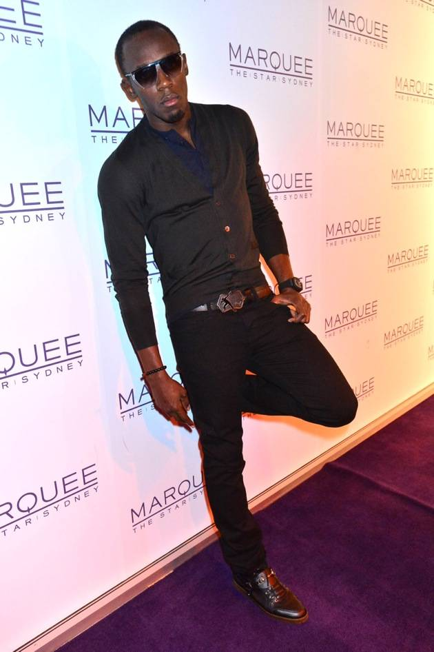 Usain Bolt at Marquee Sydney. Photo: Fiora Sacco