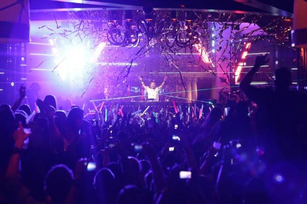 XS Nightclub 9.2.12 - David Guetta Crowd