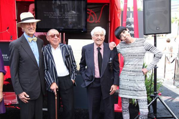 Tim Vreeland, James Galanos, Fred Hayman, Peggy Moffitt