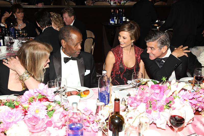 Joanna Shimkus, Sidney Poitier, Stacy Keibler, George Clooney