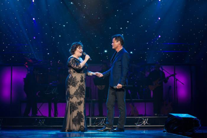 Susan Boyle and Donny Osmond
