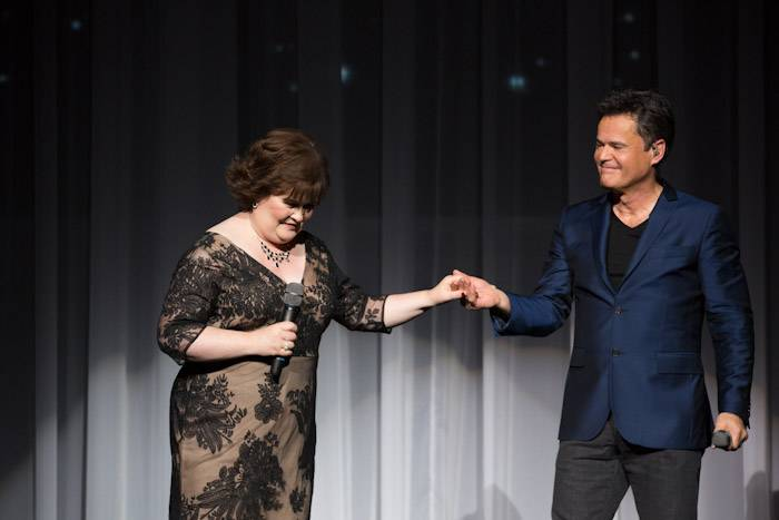 Susan Boyle and Donny Osmond. Photos: ©Erik Kabik/erikkabik.com