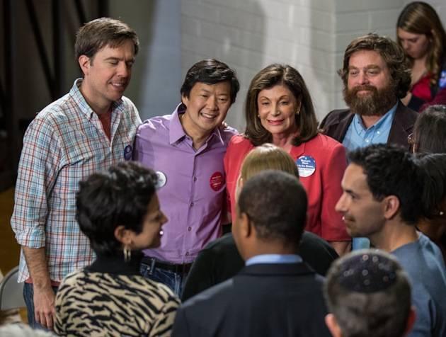 Ed Helm, Ken Jeong, congresswoman Shelly Berkley and Zach Galifi