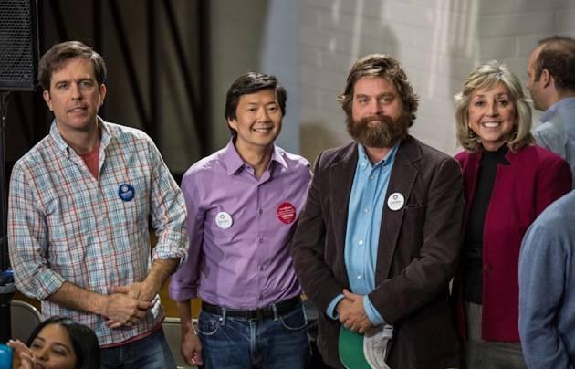 Ed Helm, Ken Jeong and Zach Galifianakis and Dina Titus