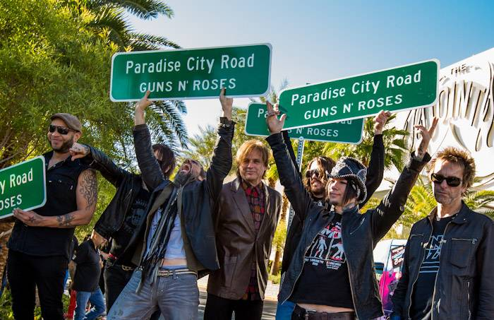 Paradise Road renamed for Guns N' Roses at Hard Rock Hotel in Las Vegas, NV