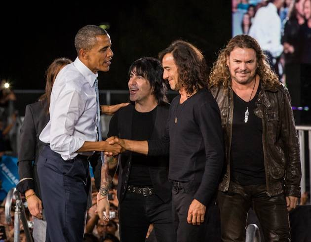 President Barack Obama with Maná