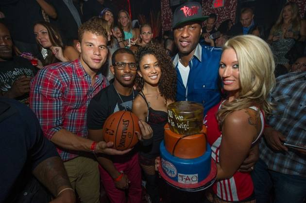 Blake Griffin, Chris Paul and Lamar Odom at Tao Nightclub