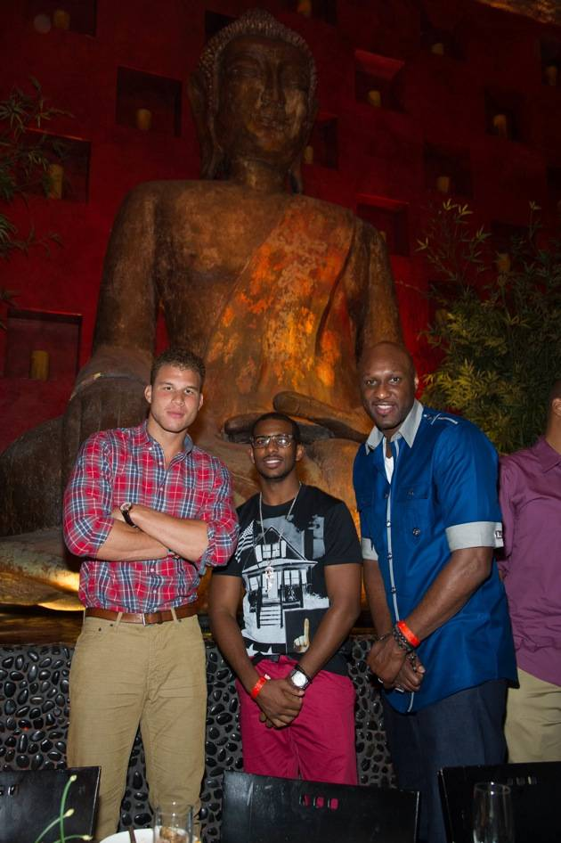 Blake Griffin, Chris Paul, and Lamar Odom at TAO Nightclub