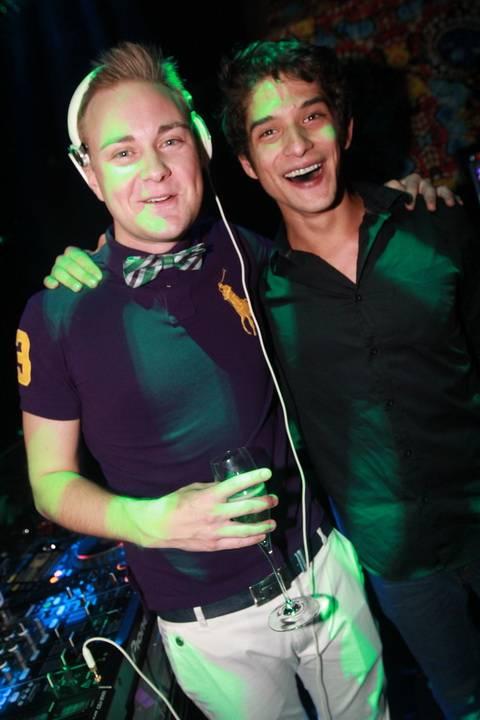 DJ Richard Beynon invites Tyler Posey to the turntables at Vanity Nightclub 10 27 12
