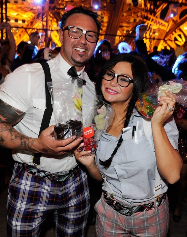 Jenni 'JWoww' Farley Celebrates Halloween With Fiancee Roger Mathews In Las Vegas At Chateau Nightclub