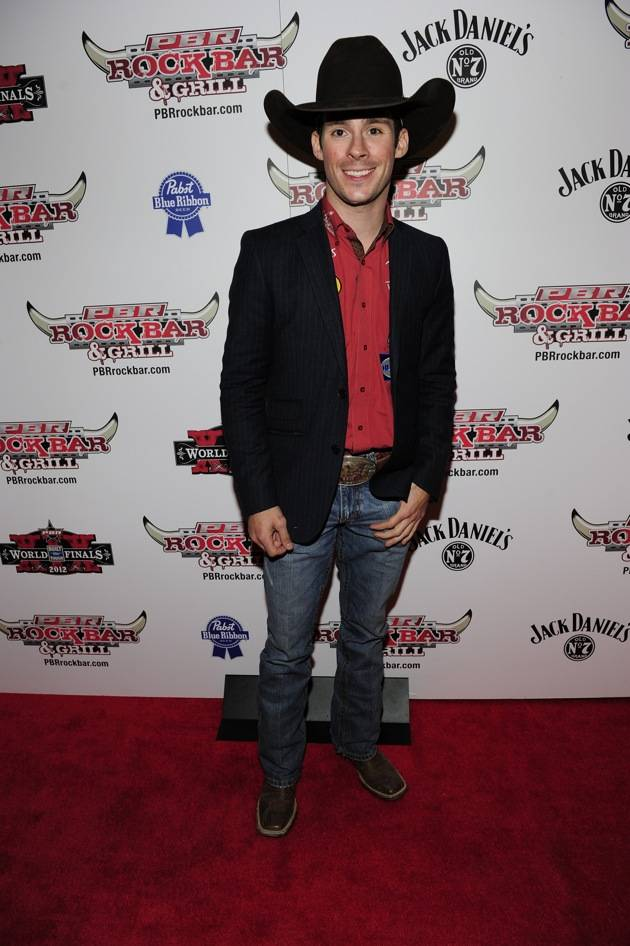 Luke Snyder Poses on the Red Carpet at PBR Rock Bar & Grill