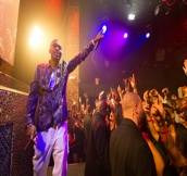 Hip hop artist, Nas, performs at TAO