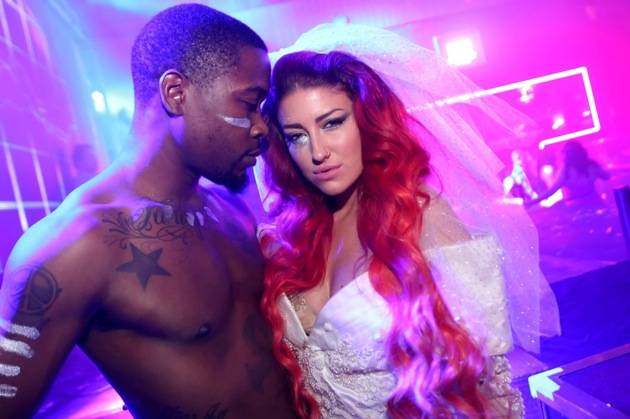 Neon Hitch with a dancer at Rain Nightclub in Palms Casino Resort Las Vegas 10.20.12