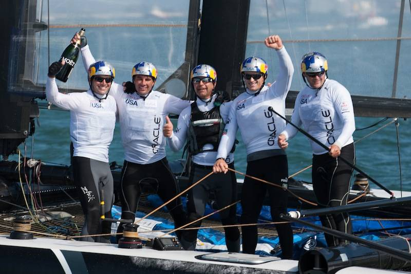 Oracle Team USA Spithill won the San Francisco World Series again.