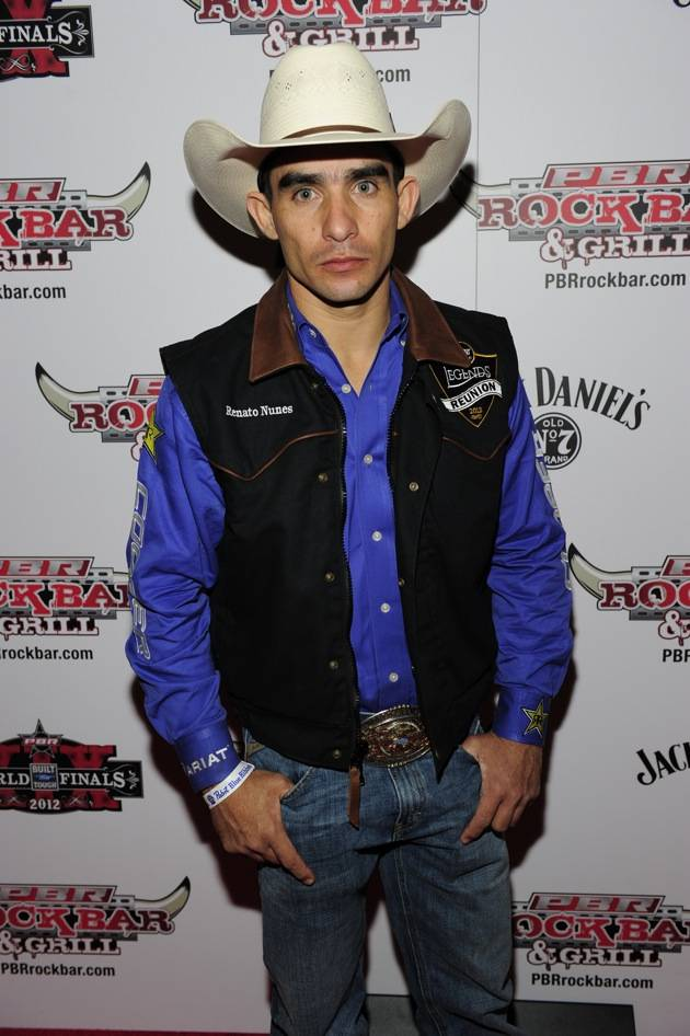 Renato Nunes Poses on the Red Carpet at PBR Rock Bar & Grill