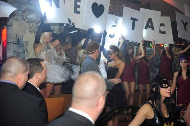 Stacy Keibler hosts Halloween masquerade at Hyde Bellagio, Las Vegas, 10.27.12 (5)