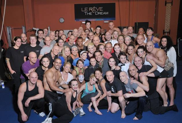 Actor Ed Helms with the cast of Le Reve – The Dream_11-12-12