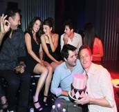 Aimee Teegarden Celebrates Her Belated Birthday In Sin City At Chateau Nightclub
