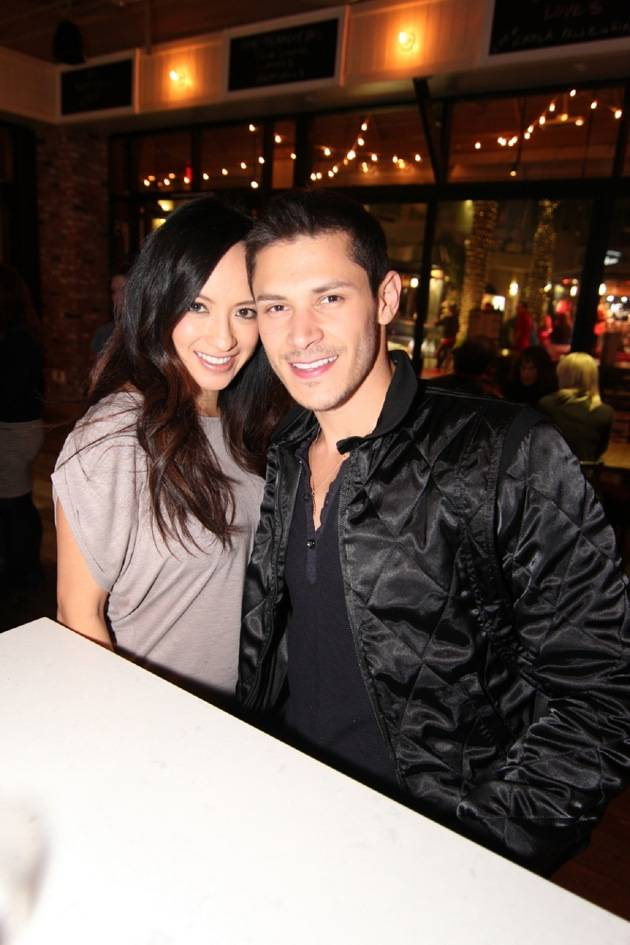 Alex Meraz with wife, Kim Meraz, at Meatball Spot.