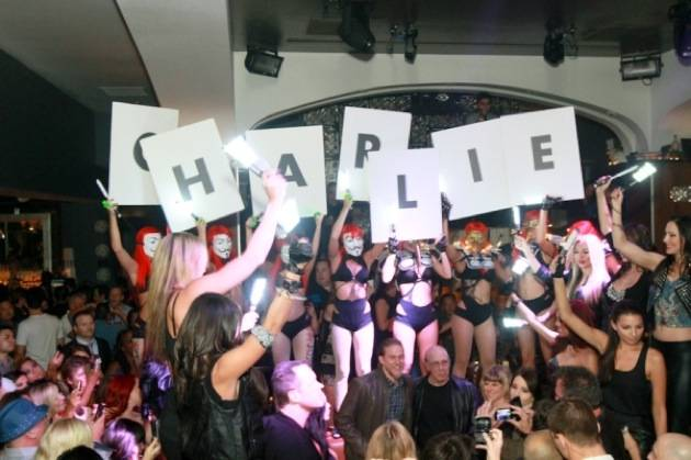 Charlie Hunnam inside Hyde Bellagio, Las Vegas