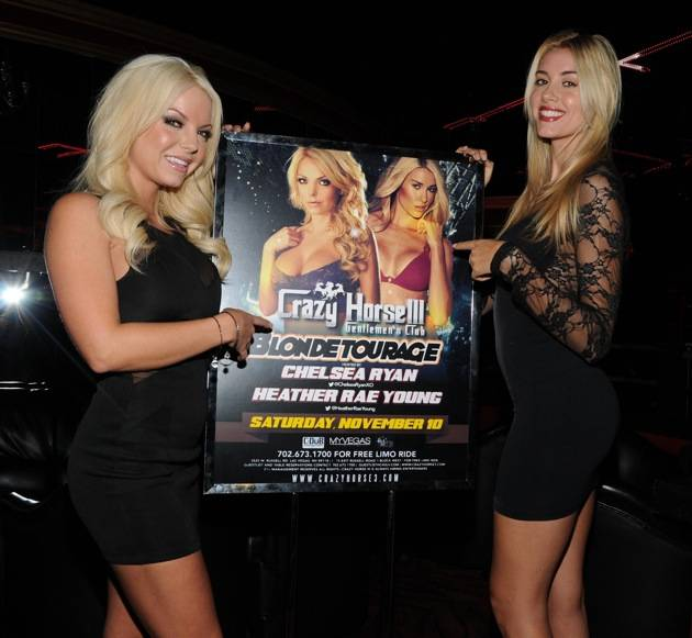 Playboy Playmate Heather Rae Young and Playboy Cyber Girl Chelsea Ryan host an evening at Crazy Horse III, Las Vegas, America - 10 Nov 2012