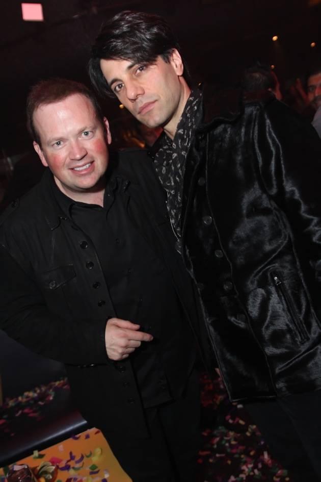 Criss Angel and Nathan Burton at Moon Nightclub in Las Vegas