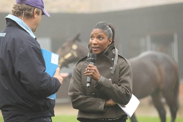 Denise Lewis at Highclere speaking to the Honourable Harry Herbert-1