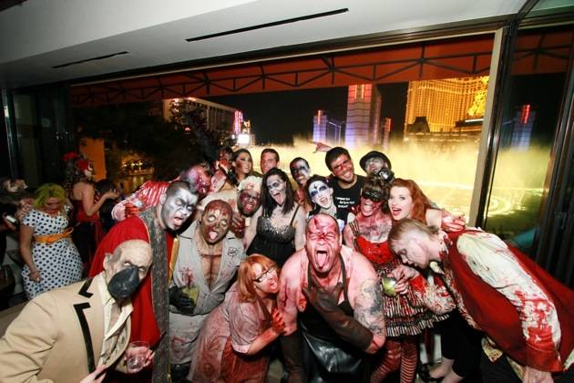 Eli Roth parties at Hyde Bellagio with GORETORIUM cast, Las Vegas, 10.30.12 (1)