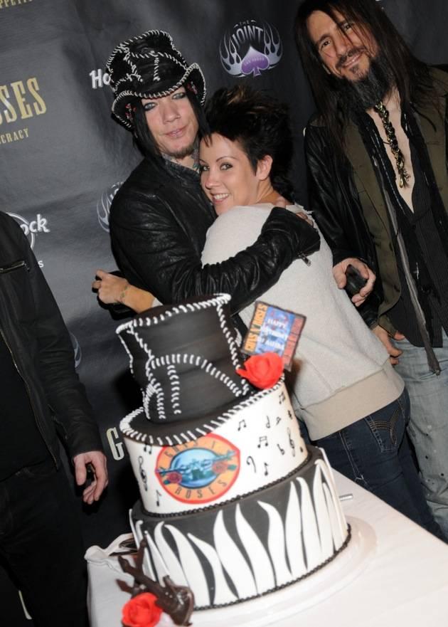 Guns N' Roses Guitarist DJ Ashba celebrates his 40th birthday with his sister_lowres