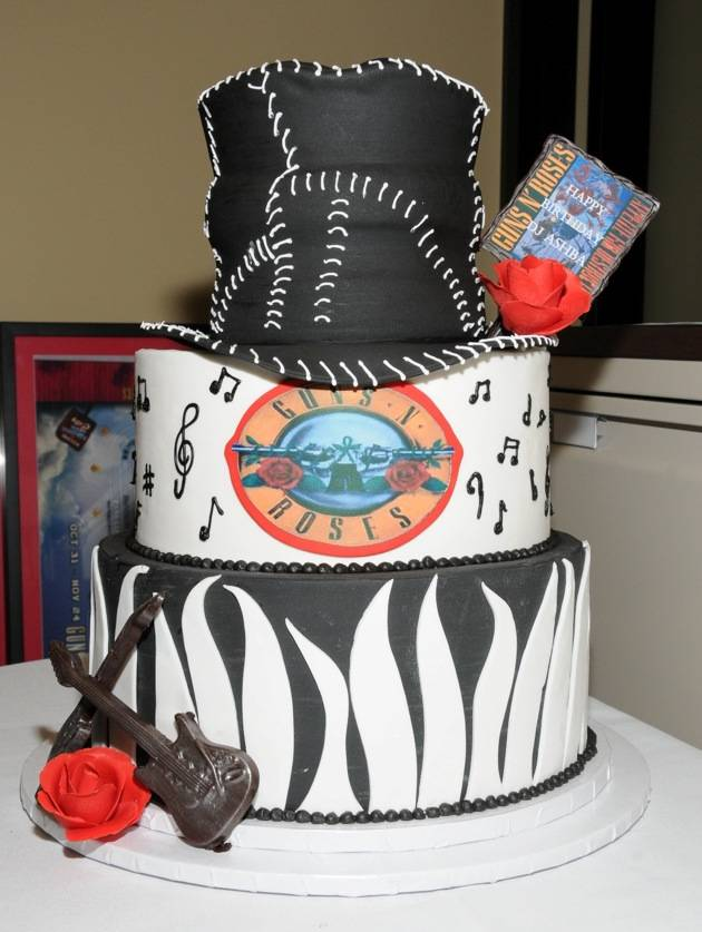 Hard Rock Hotel & Casino presents a custom birthday cake to Guns N' Roses guitarist DJ Ashba_lowres