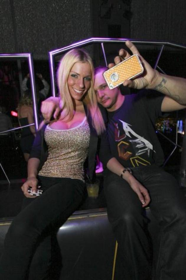 Jake Brown and fiancé at Moon Nightclub in Las Vegas