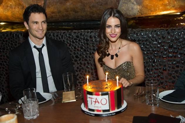 Jessica Lowndes Celebrates Birthday at Tao