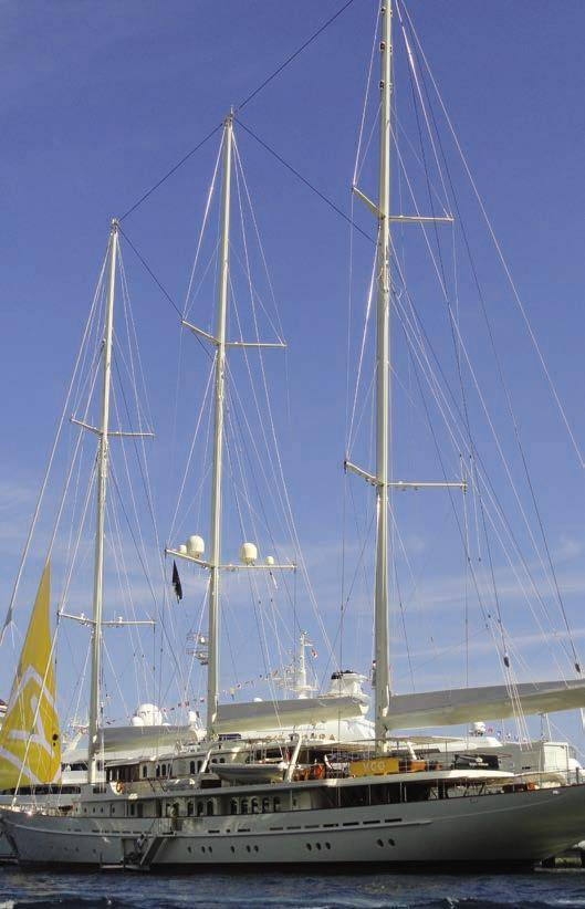 Jim Clark's 90 meter yacht, Athena for sale at Monaco Yacht Show