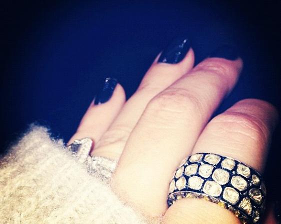 Khloe Kardashian stunning Loren Ridinger ring. —Loren Ridinger