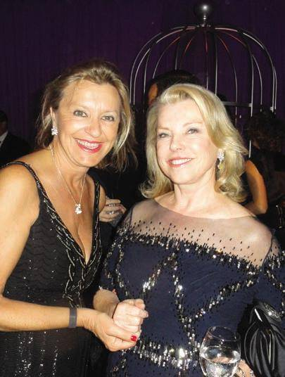 Louis Vuitton's Christine Belanger and Jeanne Lawrence at Opera Ball