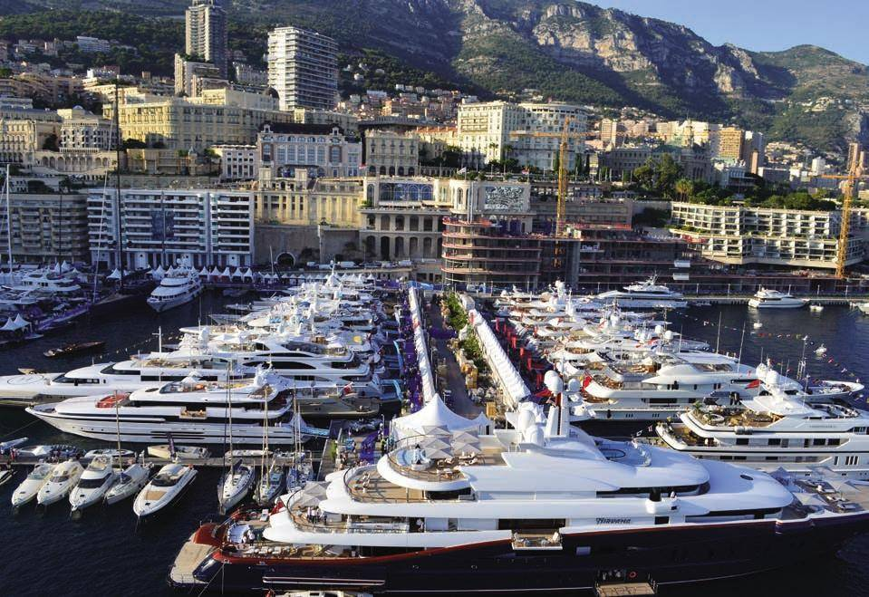Monaco Yacht Show at Port Hercules