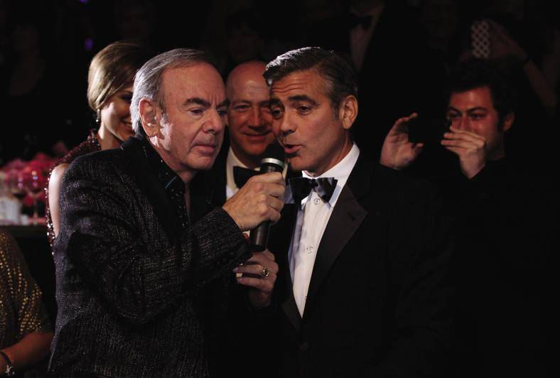 Neil Diamond and George Clooney