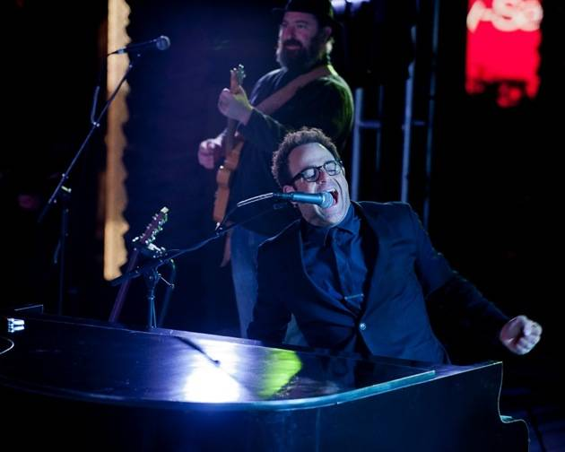 November 9, 2012, Las Vegas, Nevada, USA, Sunset Sessions Vegas - Actor Paul Adelstein performed with his band Doris Friday night at Sunset Sessions Vegas poolside at the Cosmopolitan Hotel in Las Vegas Nevada.