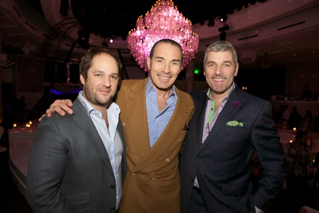 Remi Laba Alex Yemenidjian Jonathan Segal at Bagatelle Grand Opening